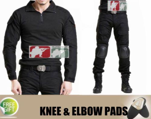 SWAT-BLACK-Gen3-Combat-SHIRT-PANTS-Urban-Tactical-Special-Force-Security-Uniform