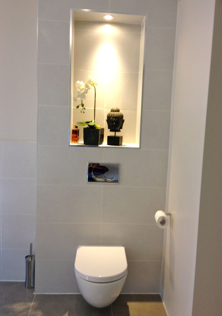 Wall Hung WC with recessed area #whitetheultimateclassic
