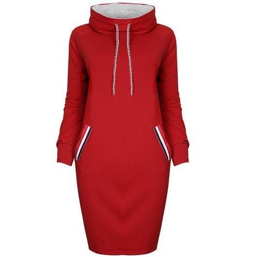 Women Dress!!! New winter dress .Girls Bandage Striped Party Dresses Plus Size