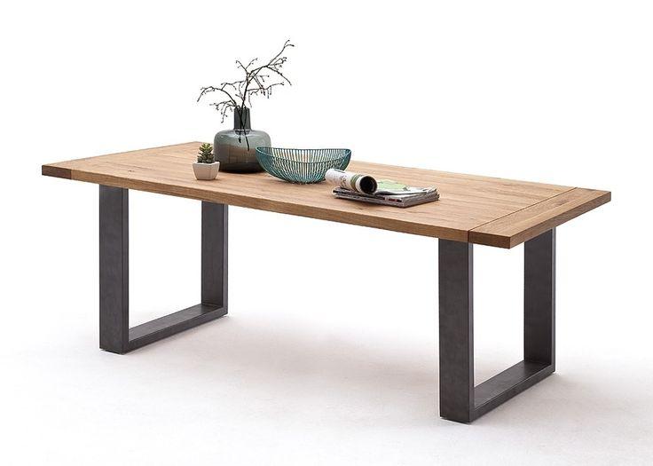esstisch wildeiche edelstahl. Black Bedroom Furniture Sets. Home Design Ideas