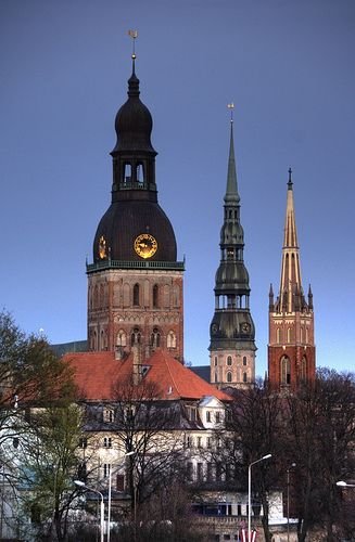 "Riga 3 ""sisters"", Latvia To book go to www.notjusttravel.com/anglia"
