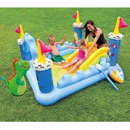 Kiddie Inflatable Floating Play Center 73'' Toys Toy For Kids Summer Fun Ages 2+ #InflatablePlayCenter