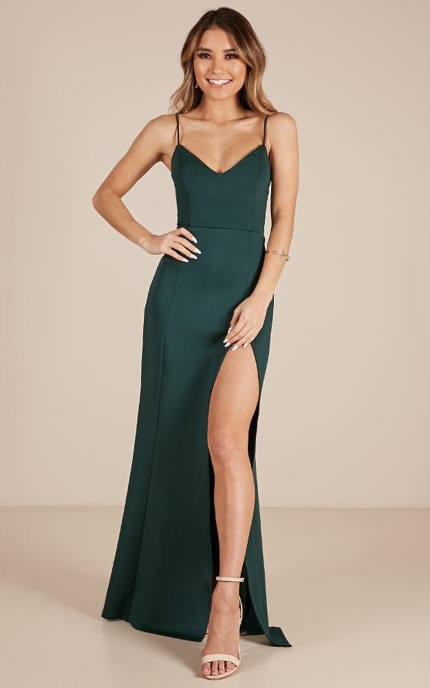 ca5f628ed48 Dare To Dream Maxi Dress In Emerald Produced in 2019