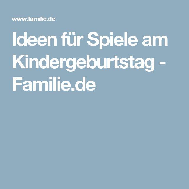 Ideen für Spiele am Kindergeburtstag - Familie.de