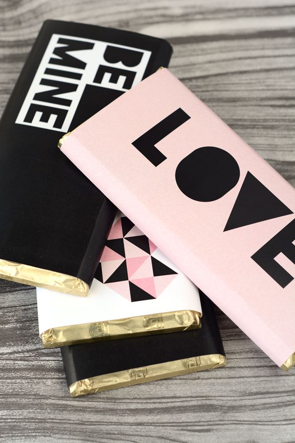 Oleander and Palm: Free Printable Valentine's Day Chocolate Bar Wraps
