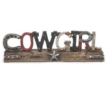 Amazon.com: Western Cowgirl Decor Sign Accented with Horseshoes, Ropes and Stars: Home & Kitchen