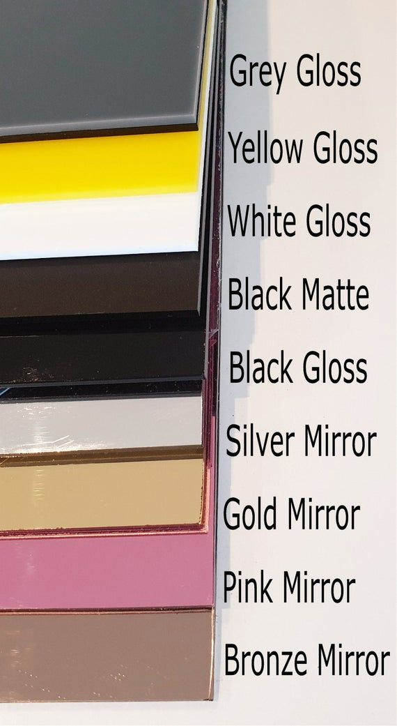 Various Sizes.3mm Depth Blank Cake Toppers Mirror//Gloss//Glitter Acrylic