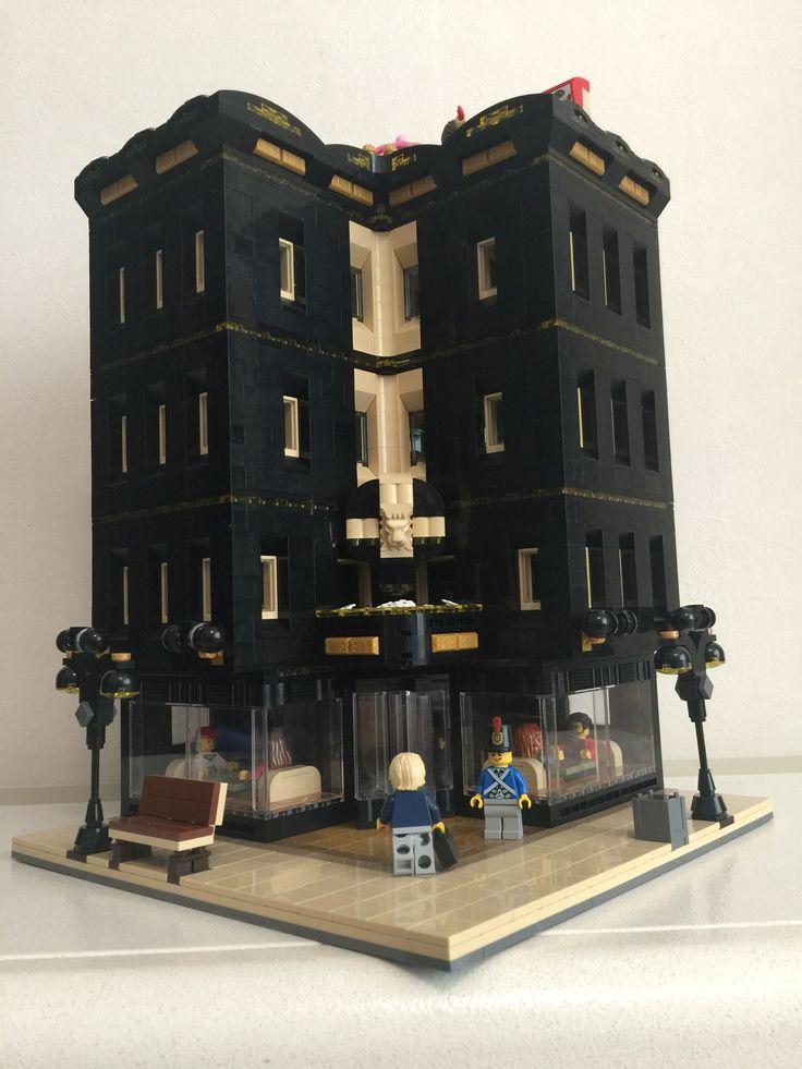 Mdc hotel lego moc lego pinterest for P o style architecture