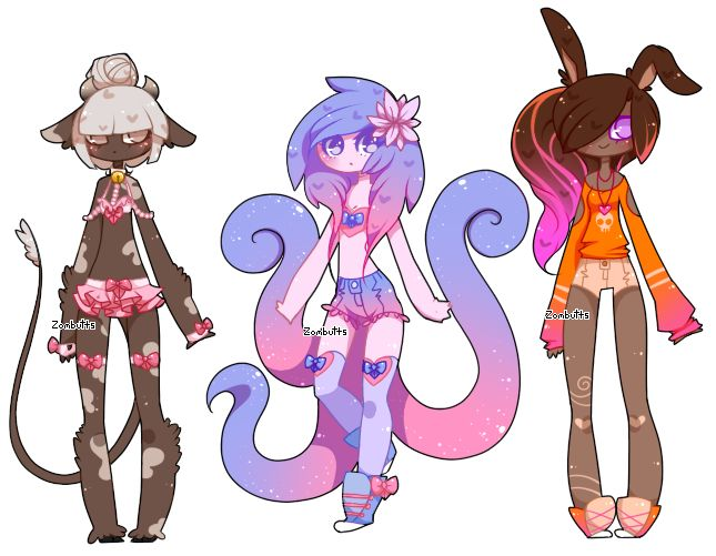 Customs: XxEbonySongxX, Plushieemokid, Youimi by Zombutts.deviantart.com on @DeviantArt