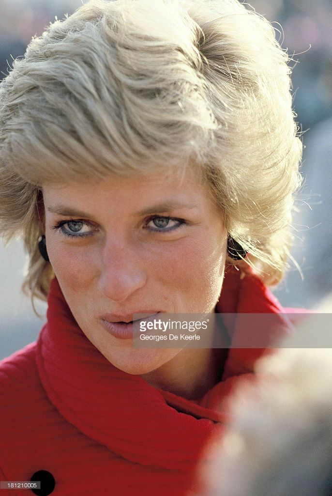 JANUARY 18 1989: Diana, Princess of Wales, during a visit to Knollmead Primary School in Surbiton