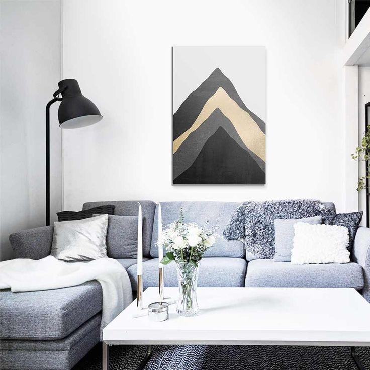"""""""Four mountains"""". Tableau Design Numéroté by Elisabeth Fredriksson- A partir de 49 € - www.chall.fr #contemporain"""