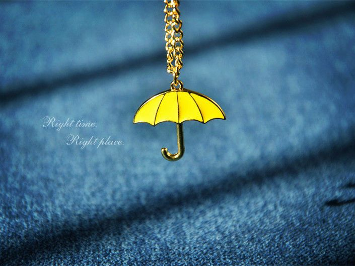 New Quality How I Met Your Mother Small Yellow Umbrella Pendant Necklace