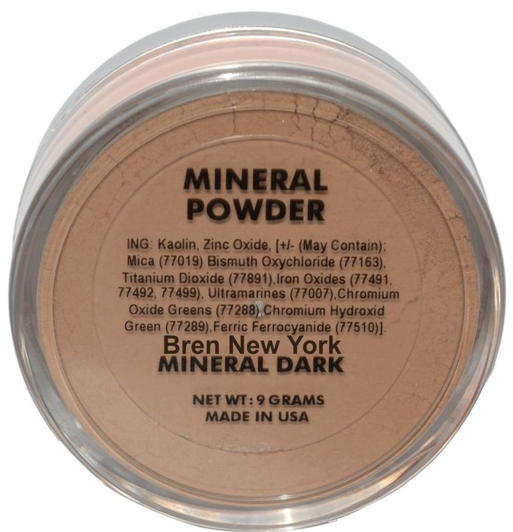Mineral Dark Loose Foundation Powder Paraben Free Exceptionally lightweight Mineral Loose Powder for long lasting coverage with a luminous glow. Helps reduce the appearance of fine lines while promoting a radiant, natural glow.