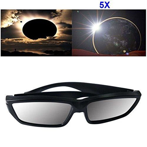 Features:Type:Solar Eclipse GlassesMaterial:PlasticCE and ISO certifiedSafe laboratory tested glasses that are ISO12312-2-2015 approved so you know you are High quality durable materialThese glasses a...