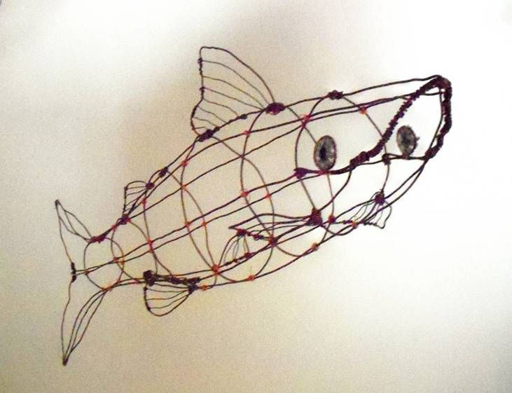 17 best wire sculpture images on pinterest for Fish wire walmart