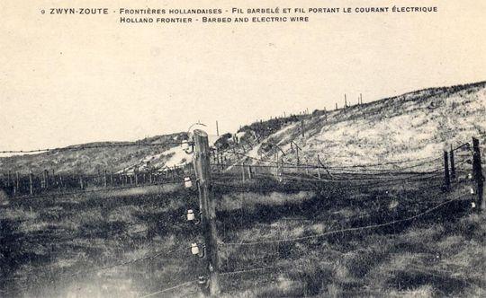 BEELD 2 Waar stond de draad? De dodendraad werd opgericht van het Zwin in Knokke tot de voorsteden van Aken. De bewaking van de 54 kilometer lange rijksgrens met Baarle-Nassau werd met plaatsing van de dodendraad herleid tot 15,5 km.