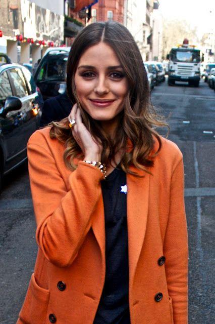 orange \ olivia palermo: Hair Colors, Orange Coats, Street Style, Style Icons, Jackets, Palermo Style, Olivia Palermo, Colors Coats, Orange Blazers