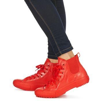 Sapatilhas Converse CHUCK TAYLOR ALL STAR CHELSEA CAOUTCHOUC HI Vermelho 350x350