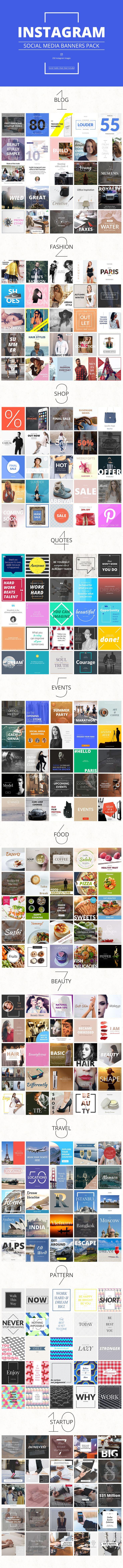 Massive Social Media Banners Pack