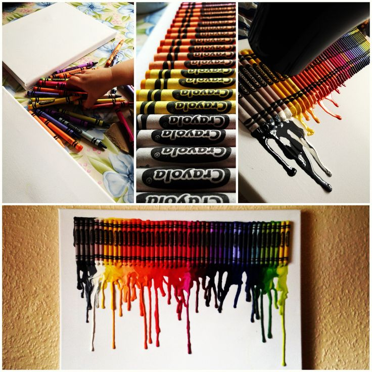 Crayons & hairdryer, a good day with the boy.