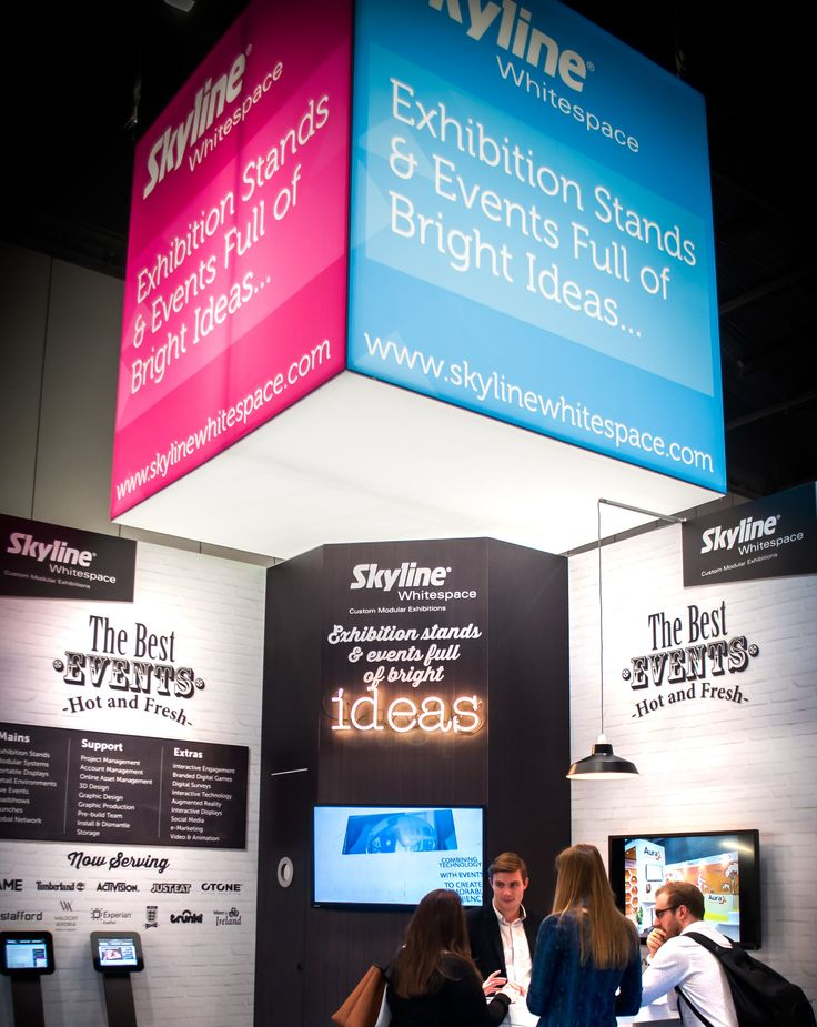 Ceiling-hung PictureCube #ExhibitionStands #PortableDisplays