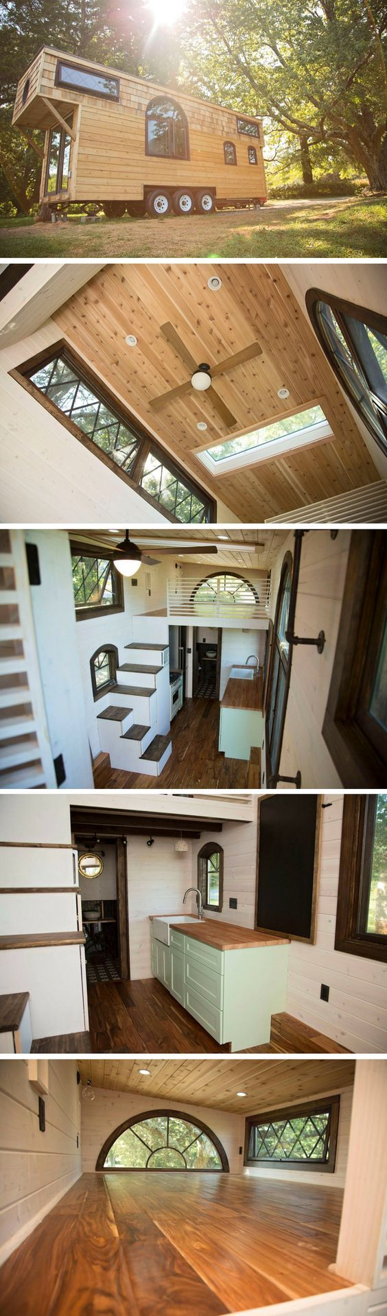 small-homes: After a few weeks of research buying plans flying out to California to meet with engineers and architects and designers I made a decision and I paid for a house to be custom built for me. This is my house paid off in full including my land. Ive been managing the building from a far. Its a tiny house and a smart house and its being driven to me from Cali.