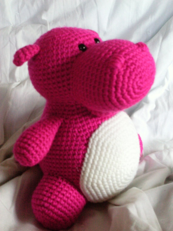 """Who knows how to crochet?? My hippo """"needs"""" this!"""