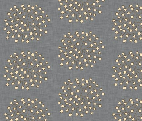 Southwest Shrubs Denim fabric by Holli Zollinger on Spoonflower