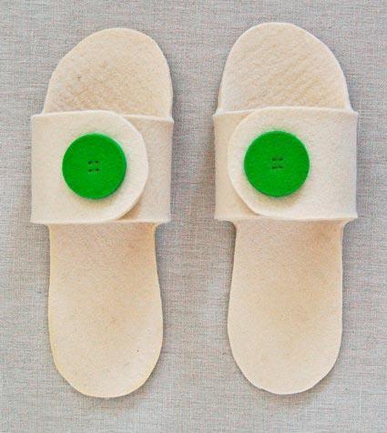 Домашняя обувь делаем сами