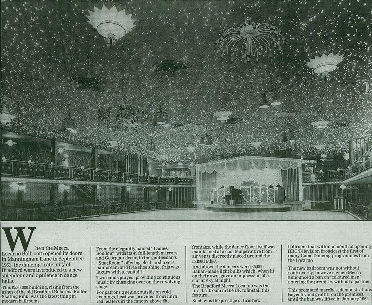 Interior of Mecca ballroom, Manningham Lane, Bradford (1960s) Scanned from Telegraph & Argus