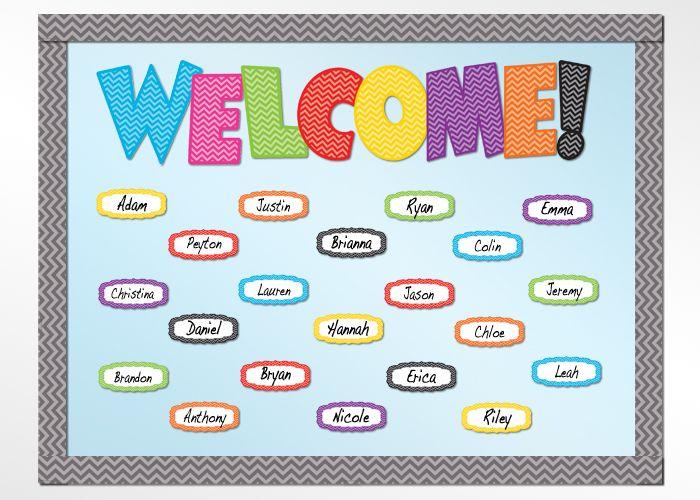 Chevron WELCOME Bulletin Board Display Set #TeacherCreatedResources #ChevronClassroom