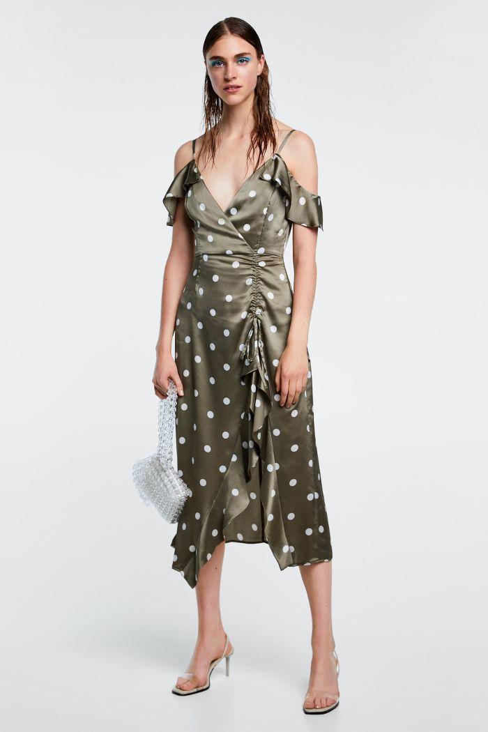 639f4852 Zara Polka Dot Dress | Celebrities & Trendsetters | Dot dress ...