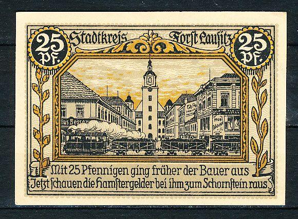 Muenzauktion.com 2609783 - Deutschland Notgeld Forst (Lausitz) 25 Pfennig 1.7.1921 Erhaltung I