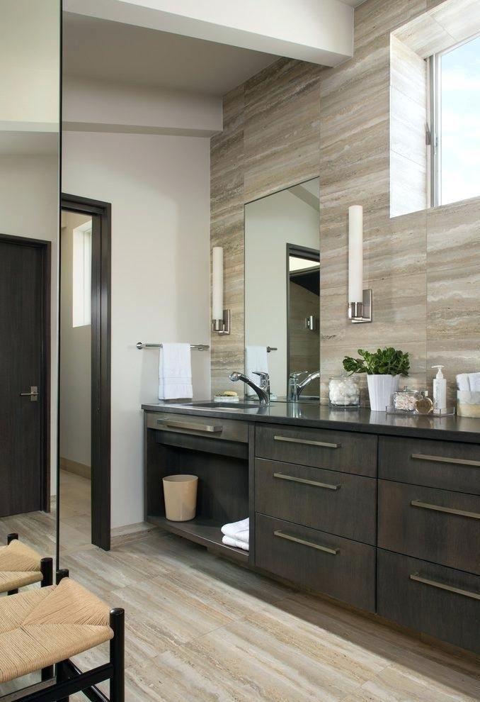Ideas Vertical Bathroom Lights For Lamp Shades Vertical Vanity Lighting Modern Bathroom Lighting Fixtures Br Dark Bathrooms Bathroom Design Dark Floor Bathroom