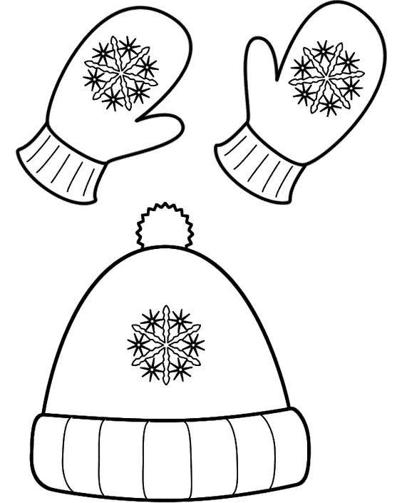 Kışlık Giysiler Boyama Sayfaları