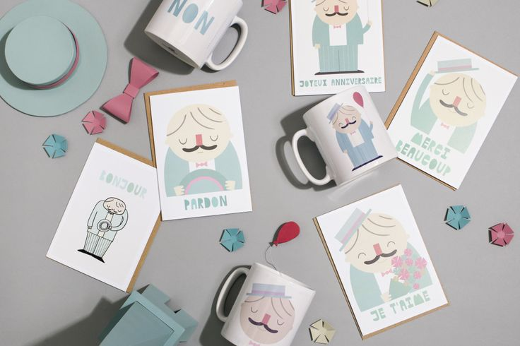 The Little Frenchman stationery collection by Hole in my Pocket