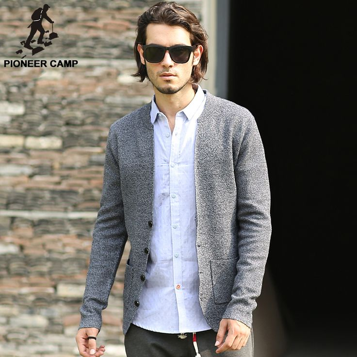 Pioneer Camp 2017 spring autumn new fashion mens cardigan sweaters casual coat thin knitwear coat men clothing Korean style