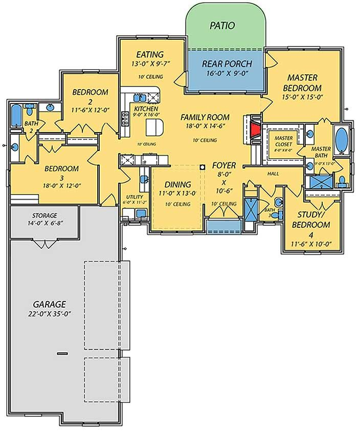 Best 25 bungalow floor plans ideas on pinterest cottage for Best floor plan ever