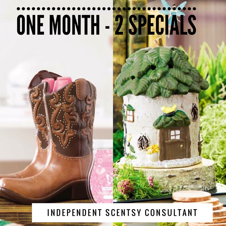 August 2017 Warmer of the Months - Fairy House & Cowboy Boots