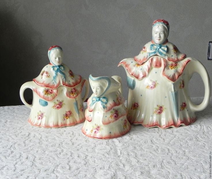 Купить Набор Бабушка,чайник,соусник,сахарница,H.J.Woods,Англия,1938 г.,фарфор