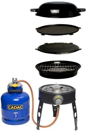 Deze Cadac barbecue werkt op gas en is erg compact. De barbecue wordt geleverd met een grillplaat, wok/deksel en bakplaat. Genoeg mogelijkheden dus! >> http://www.kampeerwereld.nl/cadac-slangpilaar-safari-chef/