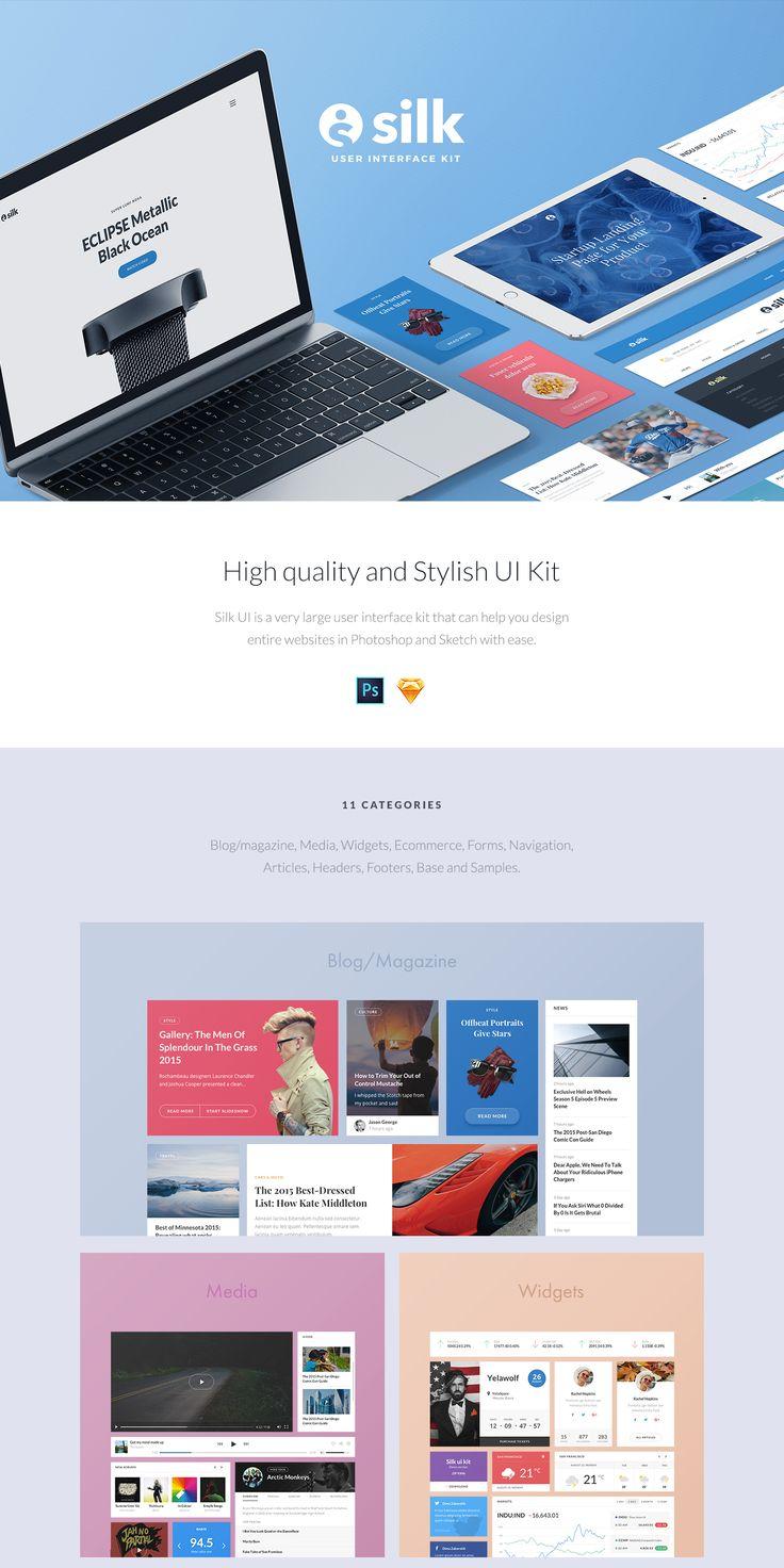 Silk UI Kit on Behance