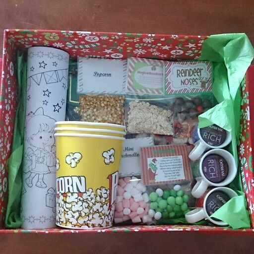 Christmas eve box ideas! Still to add pj's and movie! Underneath is a christmas book