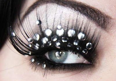 Leather-studded eye makeupLeatherstud Eye, Makeup Geek, Leather Studs Makeup, Eye Makeup, Leatherstud Makeup, Makeup Ideas, Leather Studs Eye, Eye Art, Hair