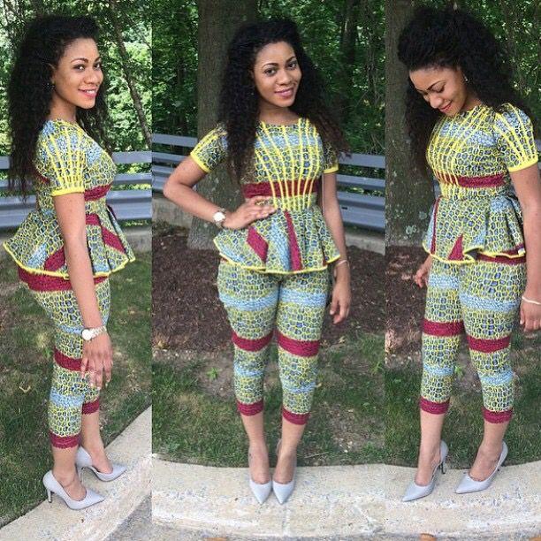 African Print Outfit ~African fashion, Ankara, kitenge, African women dresses, African prints, African men's fashion, Nigerian style, Ghanaian fashion ~DKK