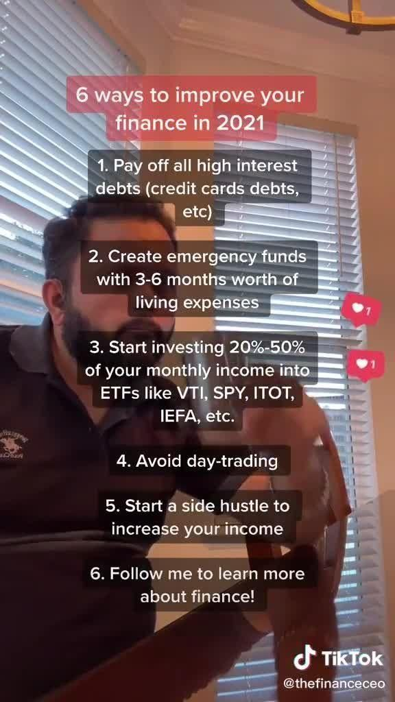 6 Ways To Improve Your Finances Tiktok Video In 2021 Finance Improve Yourself Reflection Quotes