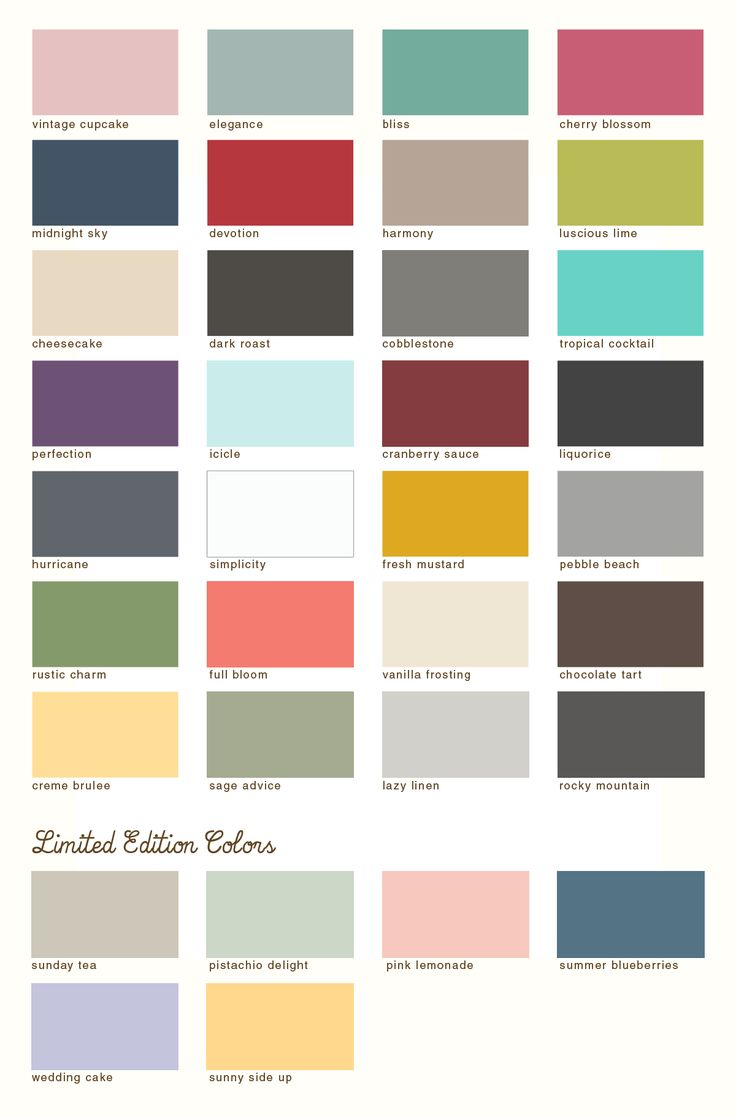 Paint Colors Of Country Chicu0027s Chalk Based Furniture Paint