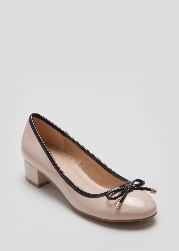 Quilted Block Heel Shoe - Matalan