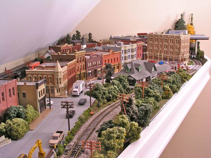 model train town