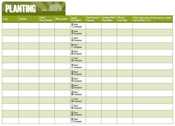Simply print these to get records organized on any sized farm operation. Link includes a variety of printable farm/gardening record keeping sheets.